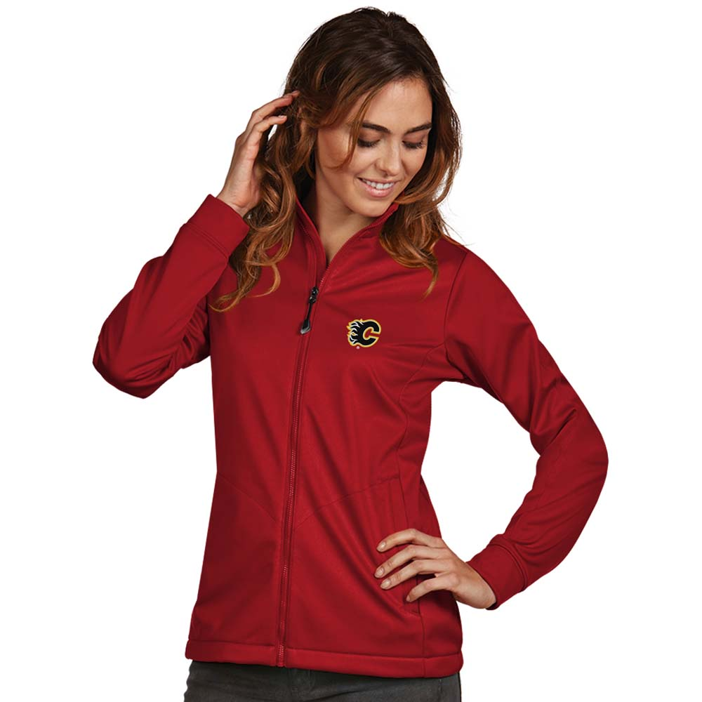 Calgary Flames Antigua Women's Golf Full Zip Jacket Red by ANTIGUA GROUP/ 22534
