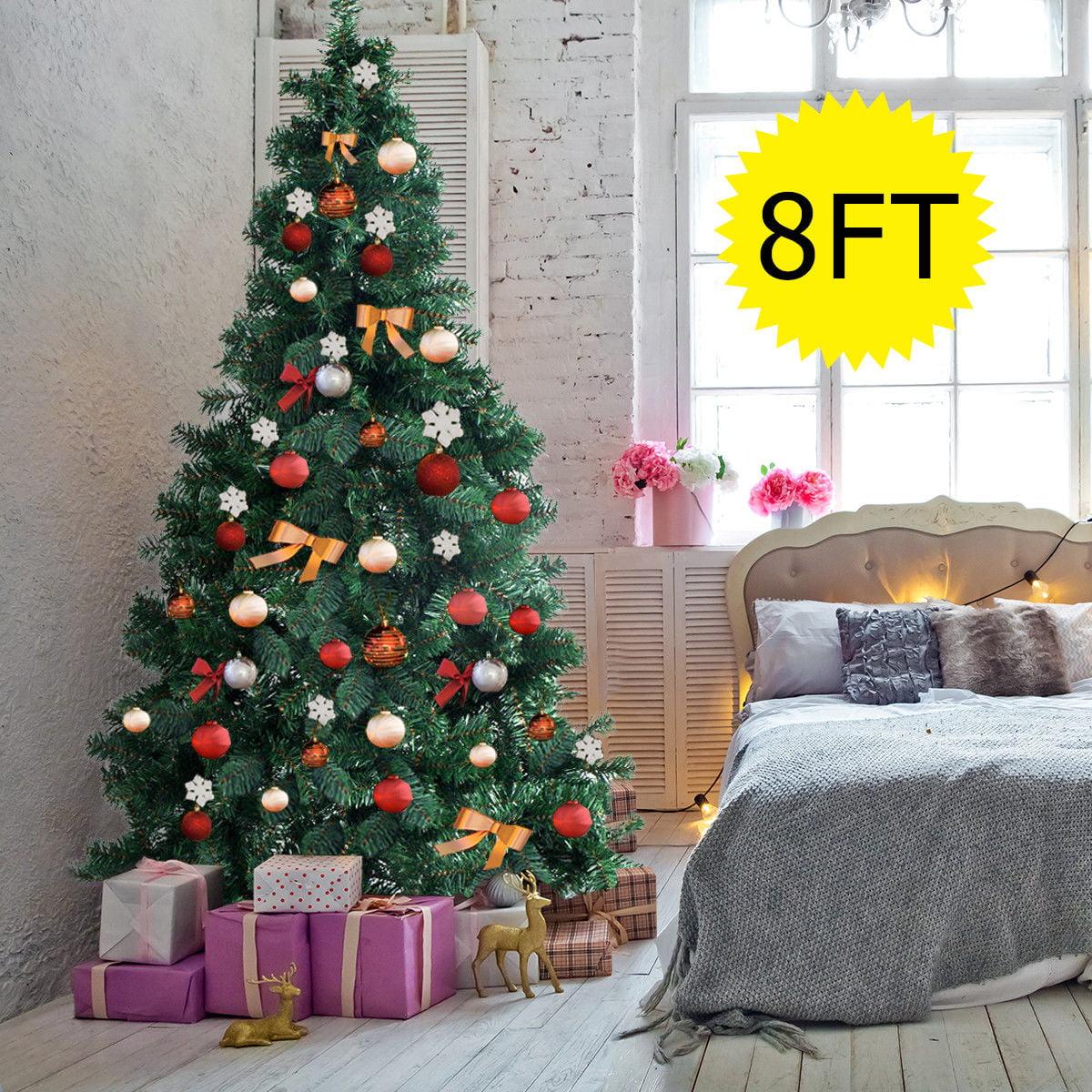 e0ad43b4ead Gymax 8Ft Green Holiday Season Artificial PVC Christmas Tree ...