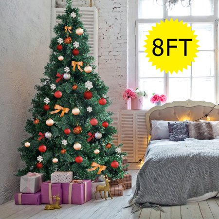 Christmas Holiday Christmas Tree - Gymax 8Ft Green Holiday Season Artificial PVC Christmas Tree Indoor Outdoor Stand