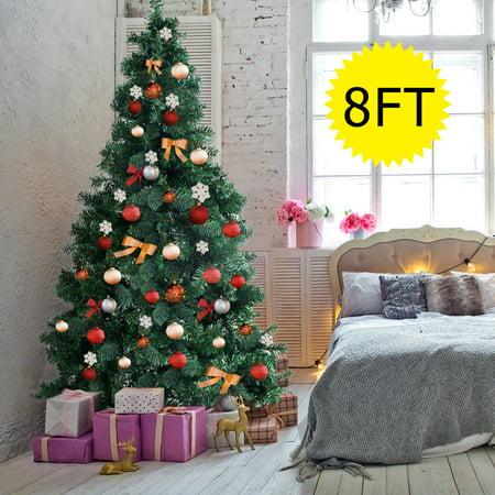 Gymax 8Ft Green Holiday Season Artificial PVC Christmas ...