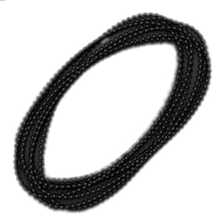 Smooth Round Opaque Bead Mardi Gras Necklace Black Pack Of 12](Mardi Gras Necklaces Wholesale)