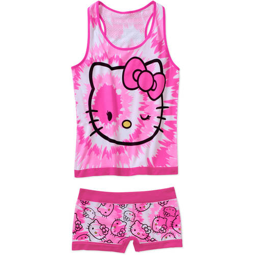 Hello Kitty Juniors' License Cami and Panty 2 Piece Sleep Set