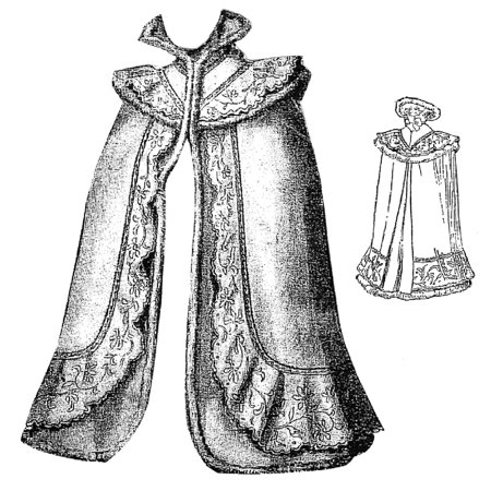 Sewing Pattern: 1899 Opera Cloak with Embroidery Pattern](Hooded Cloak Pattern)