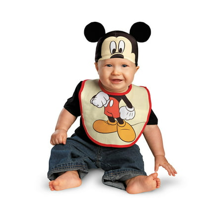Infant Mickey Mouse Bib and Hat Costume by Disguise 58885 - Mens Mickey Costume