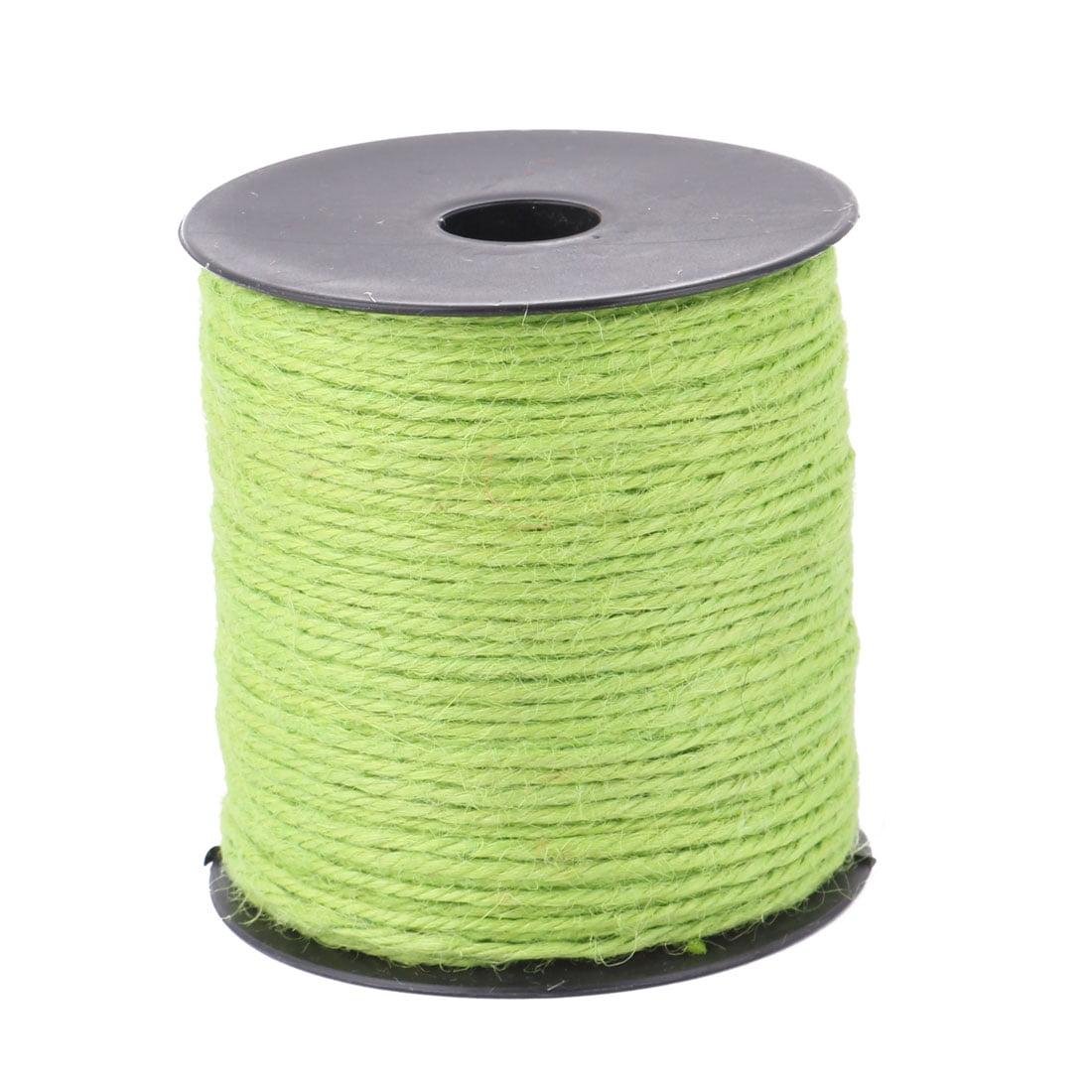 Wedding Decor Gift Wrapping Burlap String Twine Ribbon Roll Green 100M Length