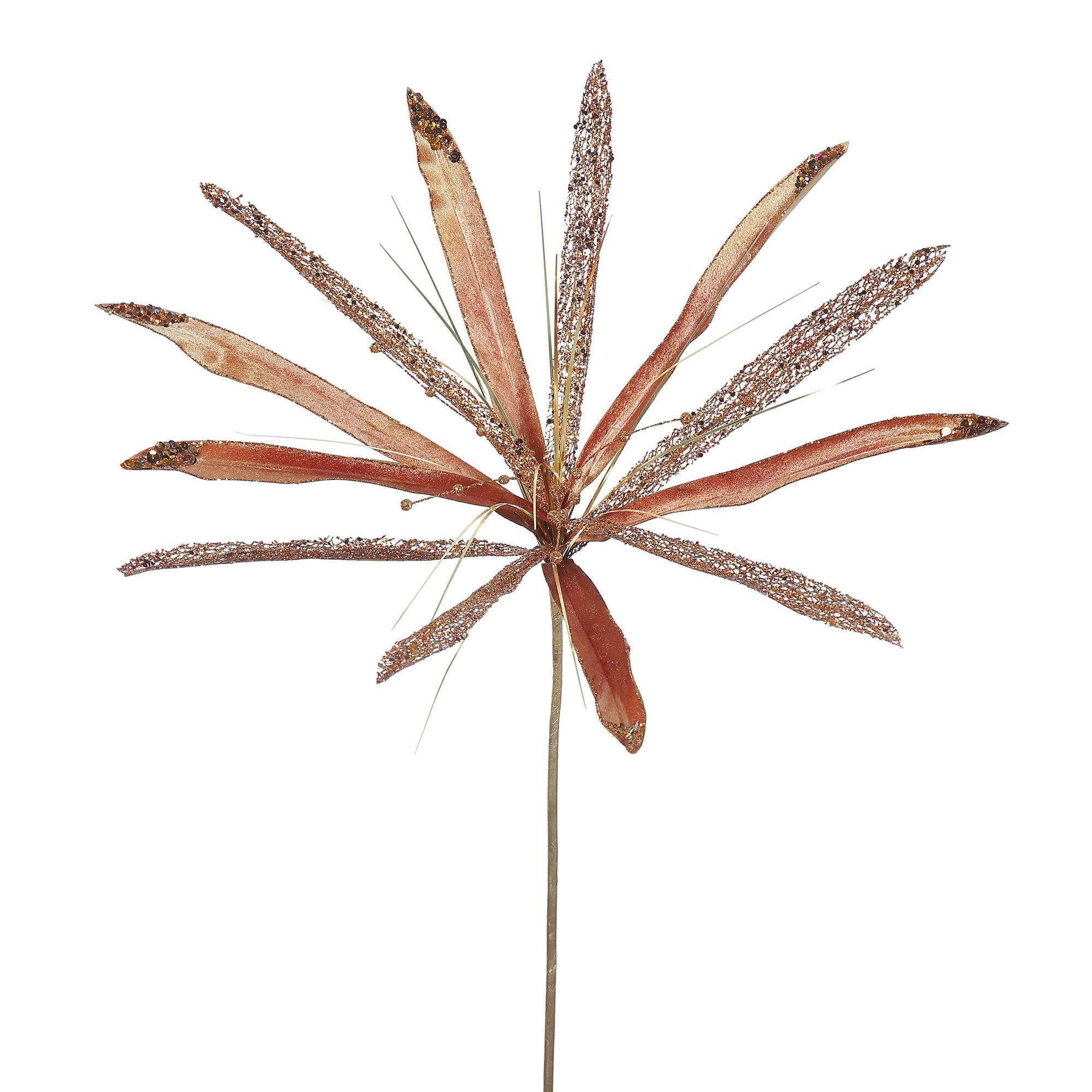 """Vickerman 24"""" Copper Papyrus, 20"""" Flower 3/Bag"""