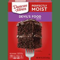 (2 pack) Duncan Hines Classic Devil's Food Cake Mix, 15.25 oz Box