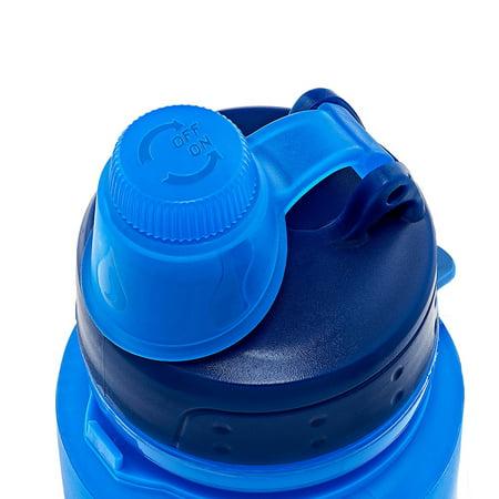 Silicone Water Bottle Foldable Collapsible Anti Leakage, Leak Proof Twist Cap, BPA Free FDA Approved Foldable Water Bottle for Sport, 17oz/500ml, Blue - image 2 de 7