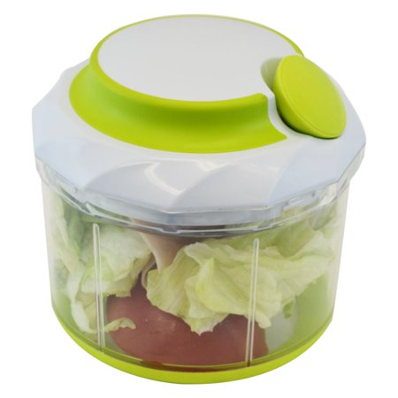 Manual Handheld Food Chopper Vegetable & Meat, Large 4.5 (Best Manual Vegetable Chopper)
