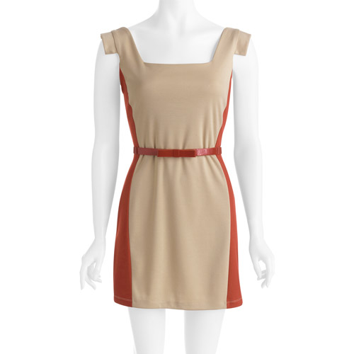 Stitch Women's Square Neck Belted Dress
