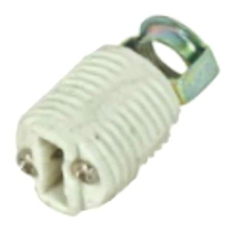 Socket Terminal - Satco 81582 - Porcelain Threaded G-9 Socket with Push-In Terminals (Porcelain Socket push in terminals 80/1582)