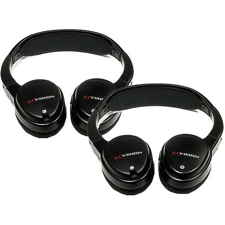 IR Wireless Headphones for In-Car Video Listening (2 Pairs) - Your Choice
