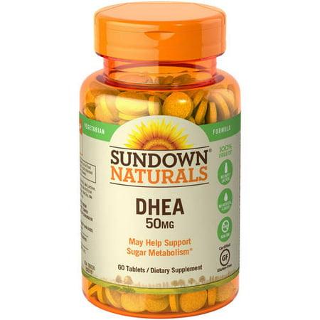 Sundown Naturals DHEA Tablets, 50mg, 60 Ct