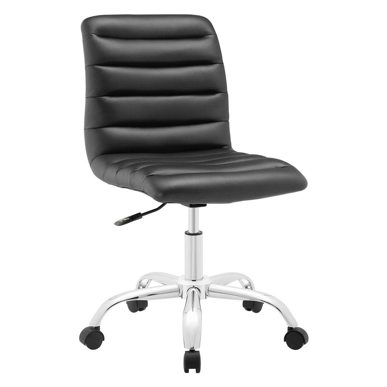 Modway Ripple Armless Mid Back Leatherette fice Chair Multiple