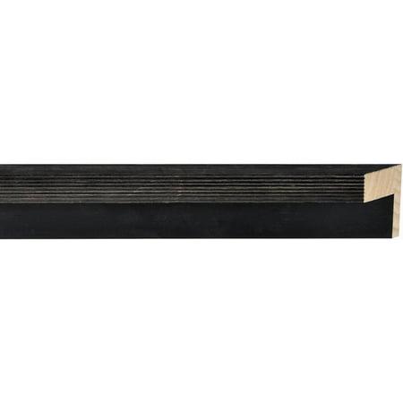 Canvas Floater Frame Moulding (Wood) - Distressed/Aged Black Finish - 1.75