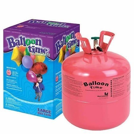 Balloon Time Disposable Helium Tank - Helium Container