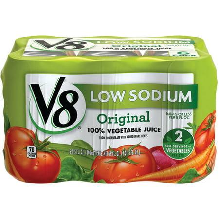 (V8 Original Low Sodium 100% Vegetable Juice, 11.5 oz. , 6 pack)
