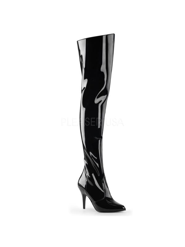 VAN3010/B Pleaser Single Single Single Soles Thigh High Boots BLACK Size: 8 0b2dc7