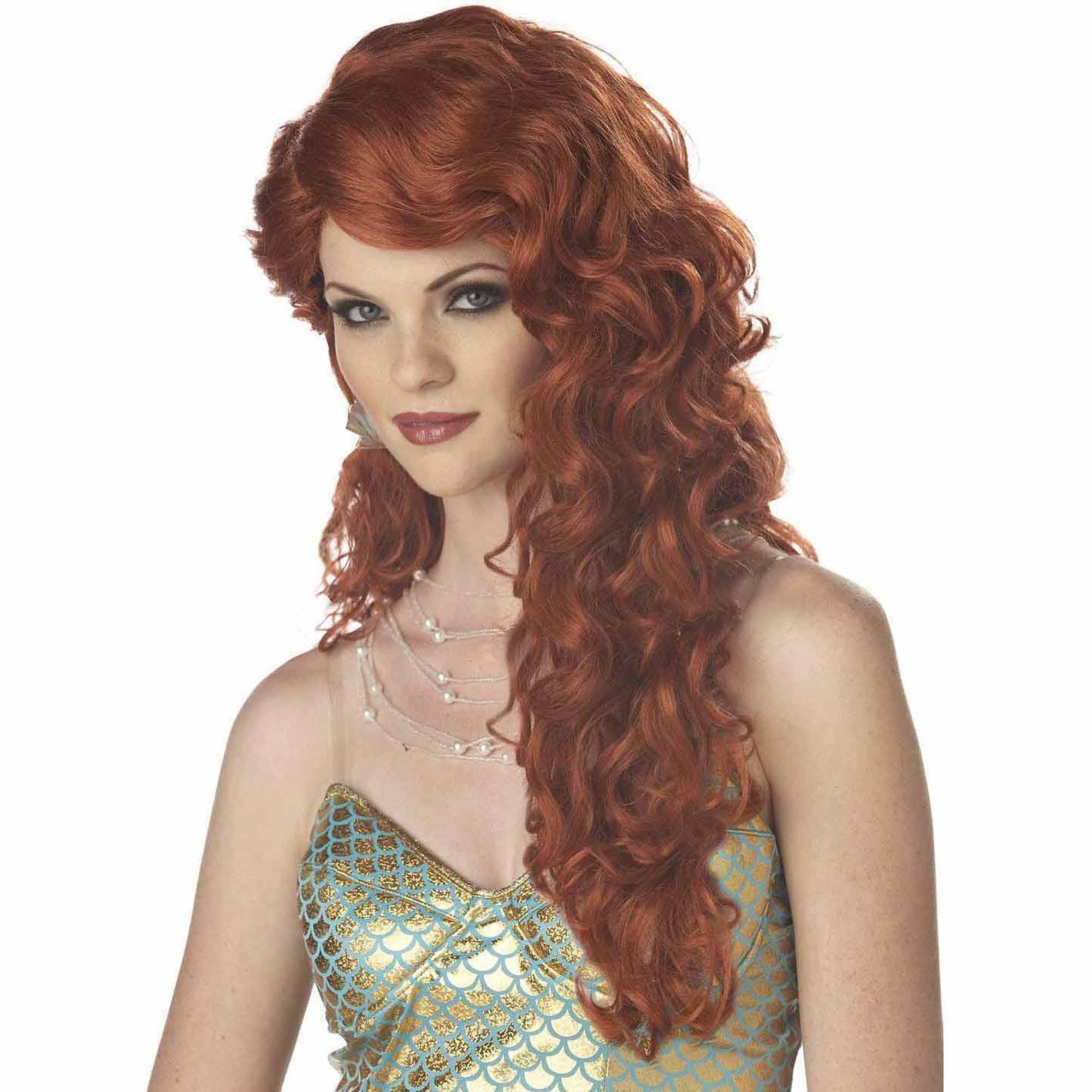 Mermaid Auburn Wig Adult Halloween Costume Accessory