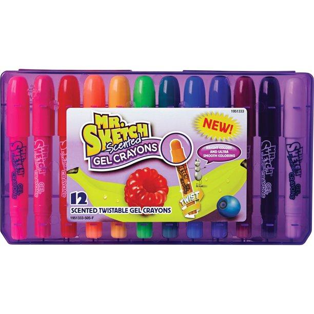 Mr Sketch Twistable Scented Gel Crayons 12 Pieces Walmart Com Walmart Com
