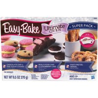 Easy-Bake Ultimate Oven Super Refill Pack with 3 Types of Mixes, 10 Total