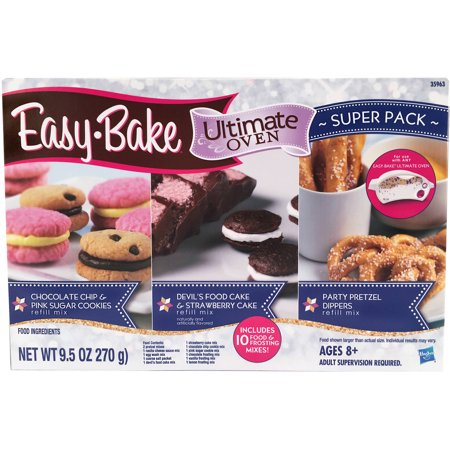 Easy-Bake Super Refill Pack, 3 Types of Mixes (10 Total, 9.5 Oz)