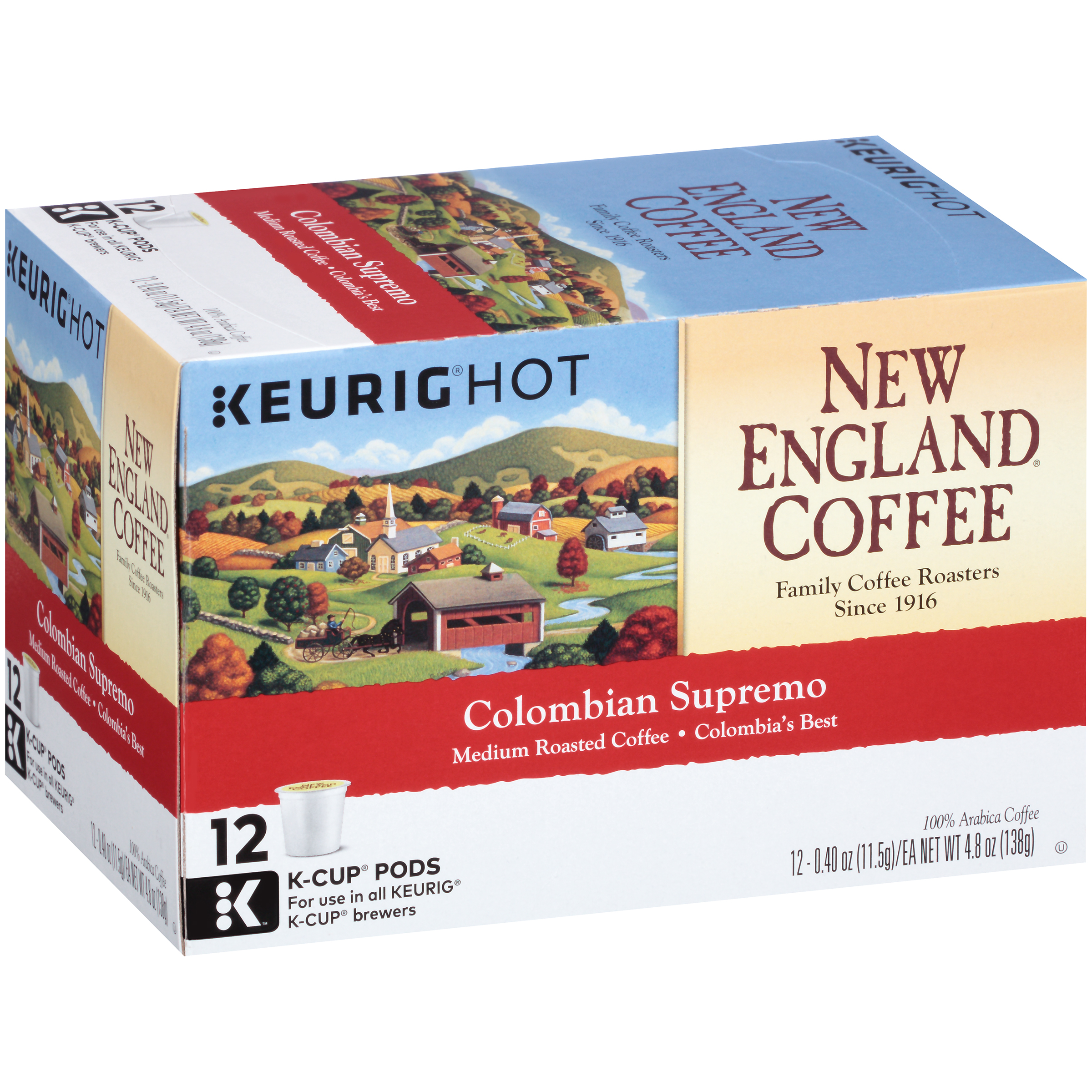 pd New England Coffee Single Serve Cups Colombian Supremo Coffee ct