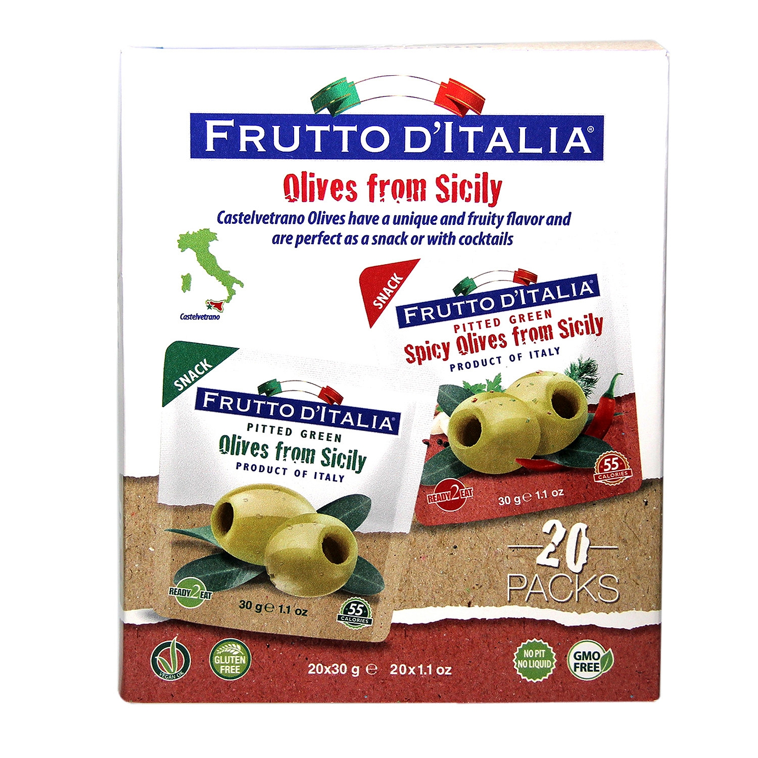 Frutto D'italia Snacking Olives (1.1 oz. ea., 20 ct.) by