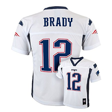 Tom Brady New England Patriots  12 Nfl Youth Mid Tier Alternate Jersey White  Youth Xlarge 18 20