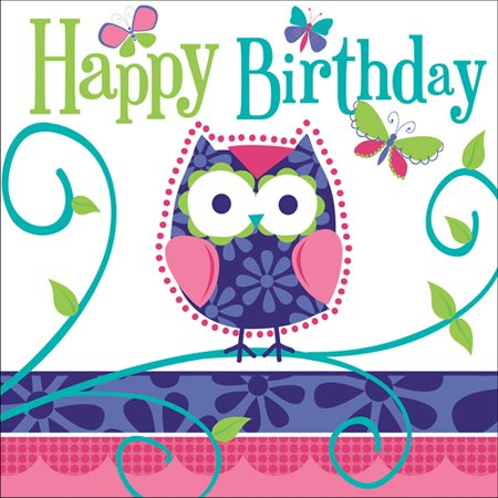 Owl Pals Happy Birthday Lunch - Owl 1st Birthday