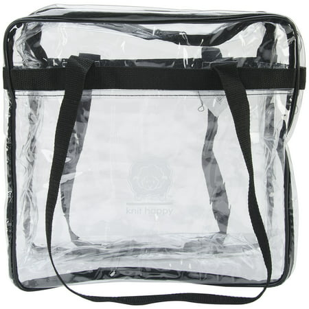 K1C2 Knit Happy Tote 12u0022X12u0022X6u0022-Clear