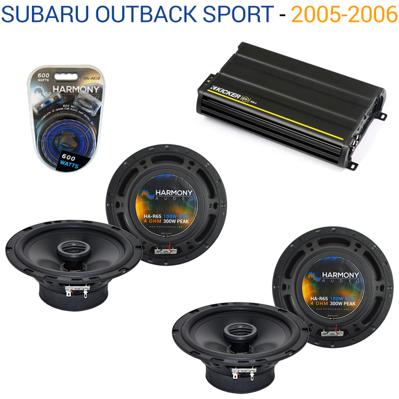 Subaru Outback Sport 2005-2006 OEM Speaker Upgrade Harmony 2 R65 & CX300.4 Amp - Factory Certified Refurbished