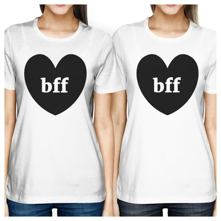 Bff Hearts Cute Best Friend Matching T-Shirts White Funny Gift