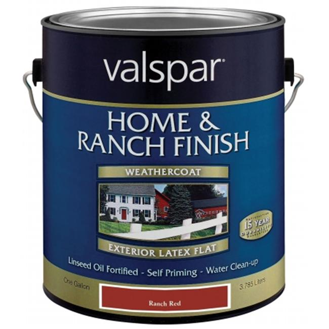 Valspar Brand 1 Gallon Red Exterior Latex Home & Ranch Paint Country Class  18-5 - Pack of 4