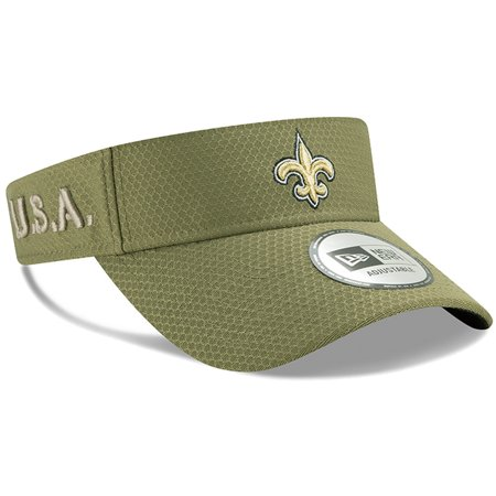 New Orleans Saints New Era 2019 Salute to Service Sideline Visor - Olive - OSFA Nfl Reebok Visor Hat
