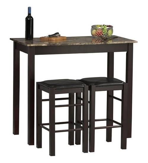 Linon Tavern Collection 3-Piece Table Set, Espresso