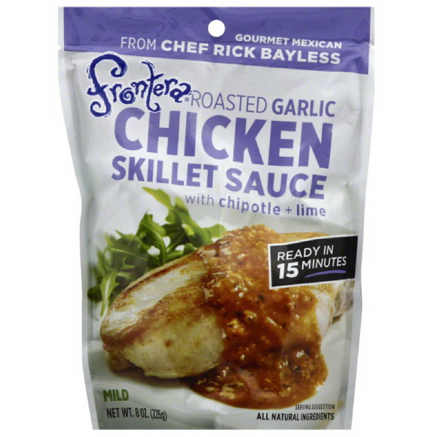 Frontera Roasted Garlic Chicken Skillet Sauce with Chipotle   Lime, 8 oz, (Pack of 6)