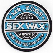 "Mr. Zoggs SEX WAX STICKER 7"" CIRCULAR BLUE"