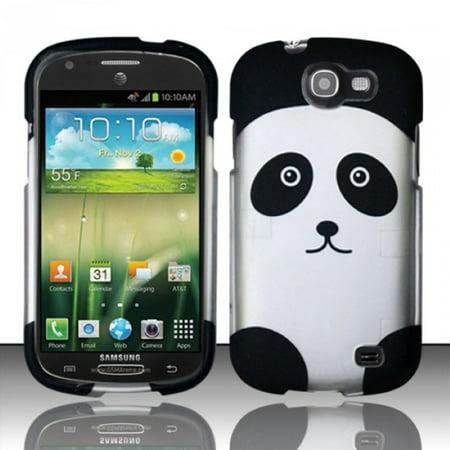 Design Rubberized Hard Case For Samsung Galaxy Express I437   Panda Bear