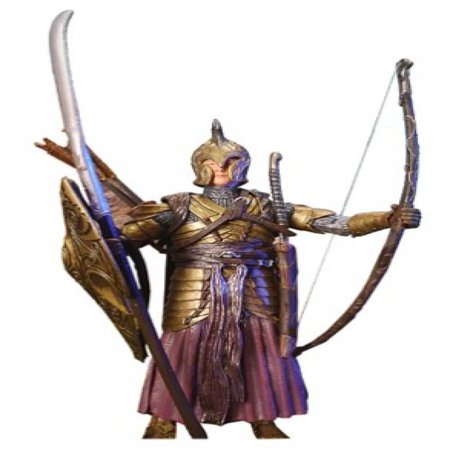 2003 TOY BIZ LORD OF THE RINGS THE TWO TOWERS PROLOGUE ELVEN WARRIOR FIGURE HALF MOON PACKAGE ()