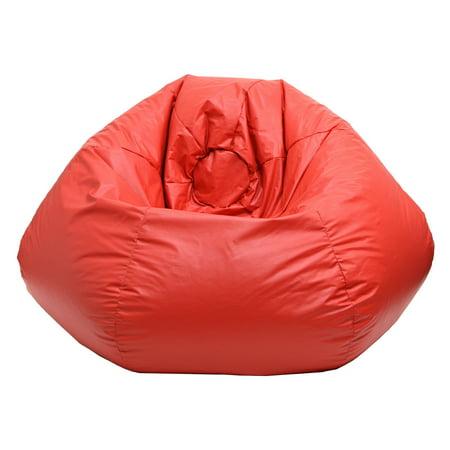 Enjoyable Hudson Industries 30010546807 Deluxe Vinyl 105 Inch Beanbag Chair Red Evergreenethics Interior Chair Design Evergreenethicsorg