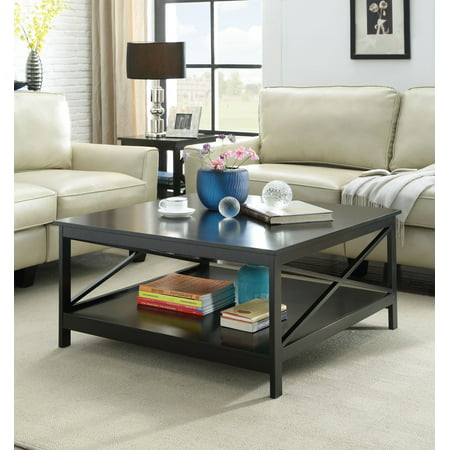 Leather Square Coffee Table (Convenience Concepts Oxford 36