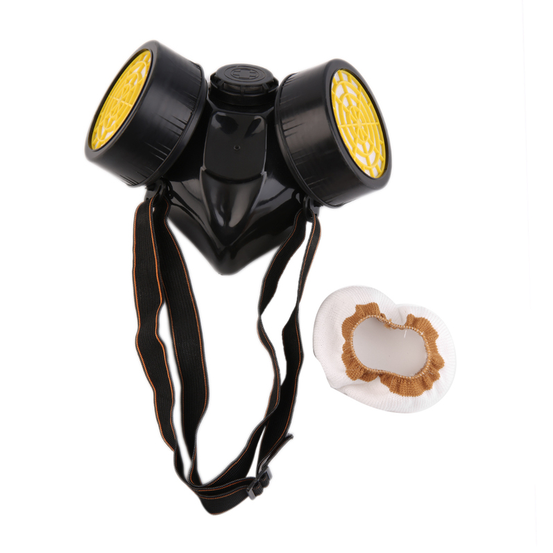 Emergency Survival Safety Respiratory Gas Mask With 2 Dual Protective Filter by