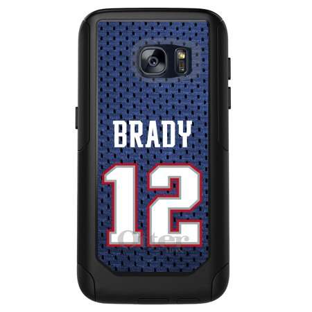 Distinctink  Custom Black Otterbox Commuter Series Case For Samsung Galaxy S7   Brady 12 Jersey