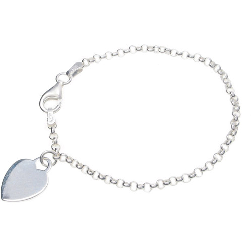 Brinley Co. Sterling Silver Heart Bracelet, 6""