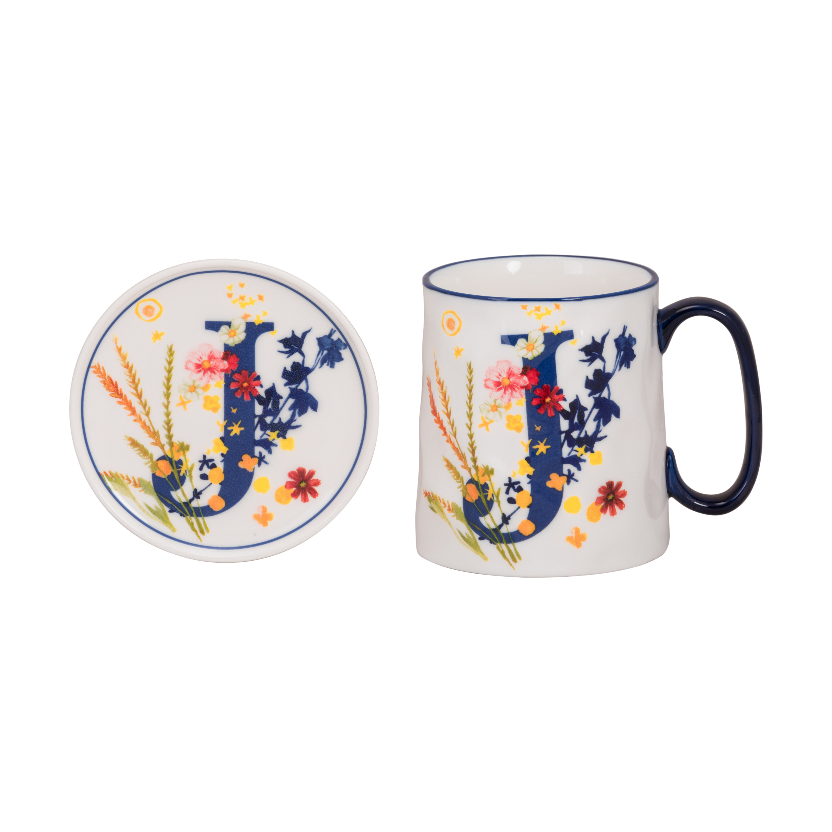 Bella Initial Mug & Coaster Set