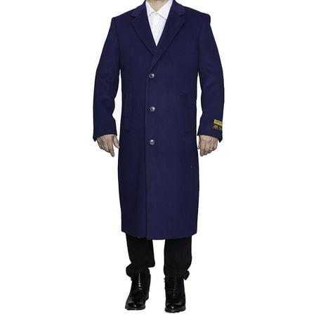 Alberto Nardoni Sapphire Indigo Blue Wool Blend Luxury Overcoat Topcoat Full Length