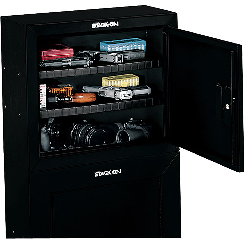 Stack On Pistolammo Security Cabinet With 2 Shelves Safety Steel