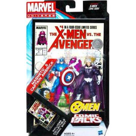 Marvel Magneto - Marvel Universe Magneto & Captain America Action Figure 2-Pack