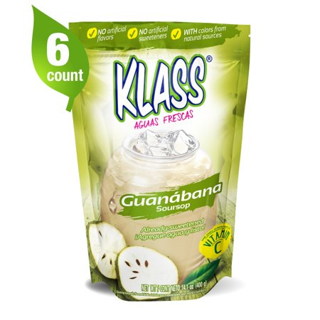 Klass Powdered Drink Mix, Guanabana, 14.1 Oz, 6